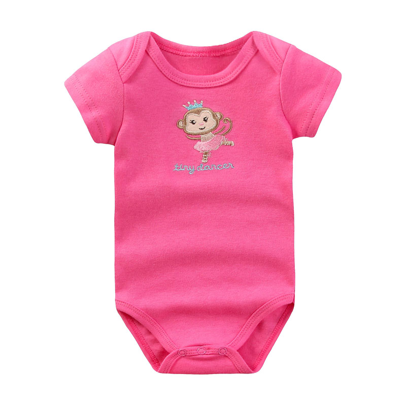 f3587eacc2c6 2018 Baby Girl Clothes Printed New Design Cotton Baby Rompers Short ...