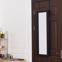 Giantex Wall Door Mounted Mirrored Jewelry Cabinet Armoire Storage Organizer New Home Furniture HW58533