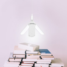 E27 LED Bulb SMD2835 Newest 45W 228leds Super Bright Foldable Fan Blade Angle Adjustable Ceiling Lamp Home Energy Saving Lights(China)