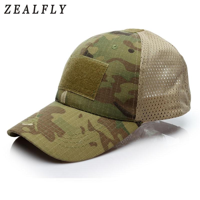 Hats Hook Badge Patch Mesh Tactical-Cap Desert Cobra Digital Breathable CP Camouflage
