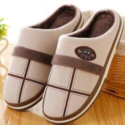 House slippers for men Fashion Plaid Winter slipper Plush Size 10.5-11.5 Memory Foam Bedroom shoes Man Soft Non-slip