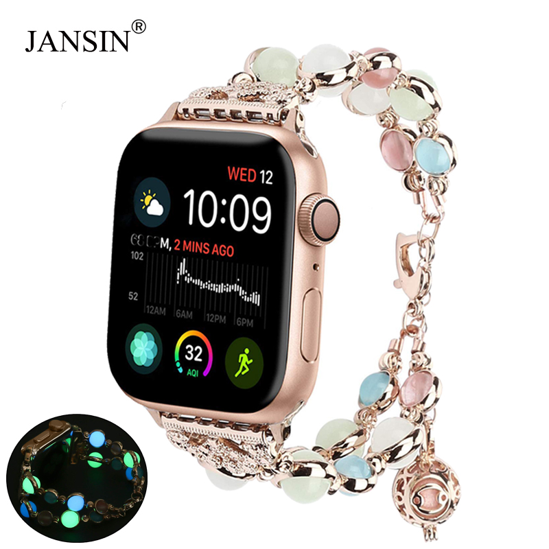 Night Light Watch Strap For Apple Watch Series 4 5 44mm 40mm Bracelet Luminescence Band For IWatch Series 1/2/3 38mm 42mm Women