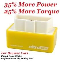 NitroOBD2 Performance Chip Tuning Box Nitro OBD2 OBD Plug and Drive More Power Torque For NitroOBD Gasoline Benzine Petrol Cars