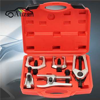 5Pcs Front End Service Tool Kit Ball Joint Tie Rod Set Pitman Arm Puller Remover Heavy   Forged Alloy Steel Tool