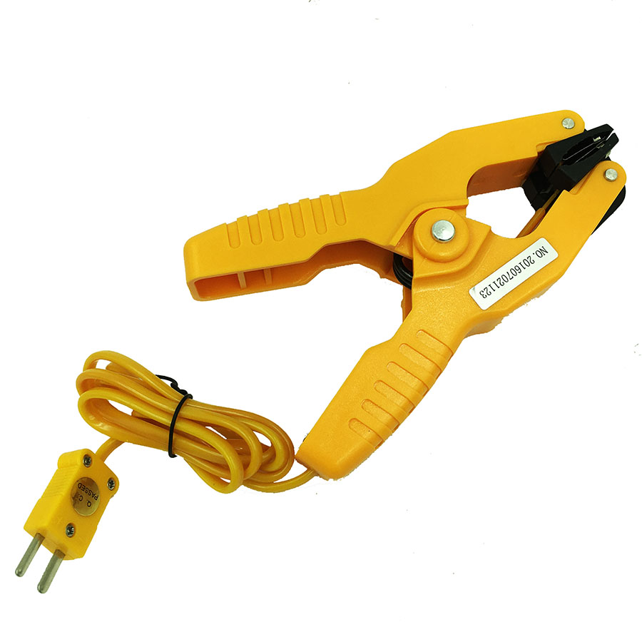 HT-05 Pipe Clamp thermometer clamp clip Temperature Measurement Lead K type Thermocouple -40~200C K-type Probe testo 550 1 refrigeration manifold kit 0563 5505 with 1 clamp probe surface temperature measurement