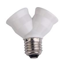 E27 Socket Base Extend Splitter Plug LampHolder Bulb Holder Dual Double Halogen Light Lamp Copper Contact Adapter Converter