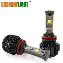 CNSUNNYLIGHT 7200LM H11 H8 Voiture Led Phare Conversion Kit Auto tête Brouillard Xénon 3000 K 4300 K 6000 K 8000 K 12 V 24 V ampoules
