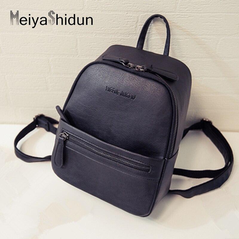 Meiyashidun Для женщин кожаный рюкзак дети маленькие твердые сумка мини-рюкзаки школьные ...
