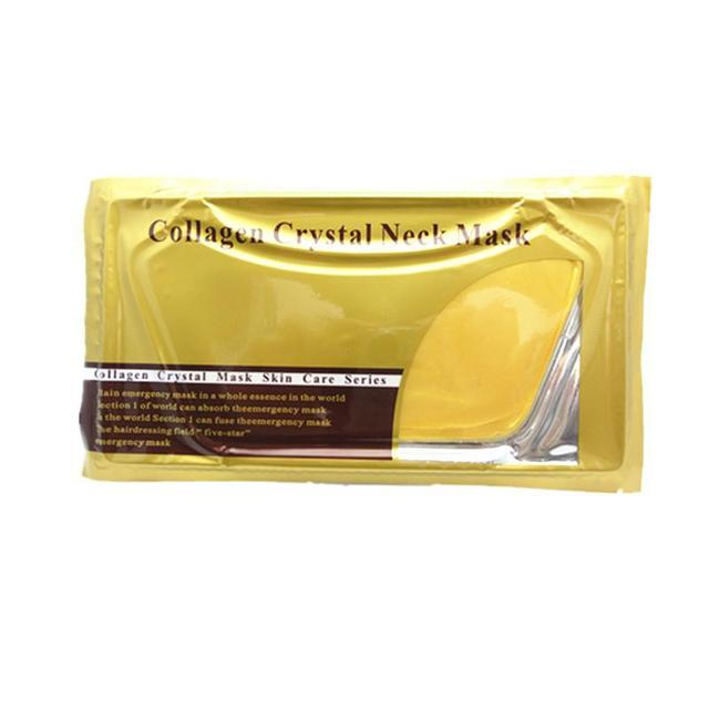 Collagen Gold Gel Neck Mask Puffiness Moisture Neck Mask  / Wrinkles / Dark Circles Free Shipping 20Pcs/lot