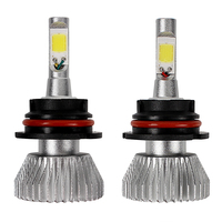 2pcs Head Light High Low Beam 9004 COB Car LED Headlight Headlamp Light Source All In