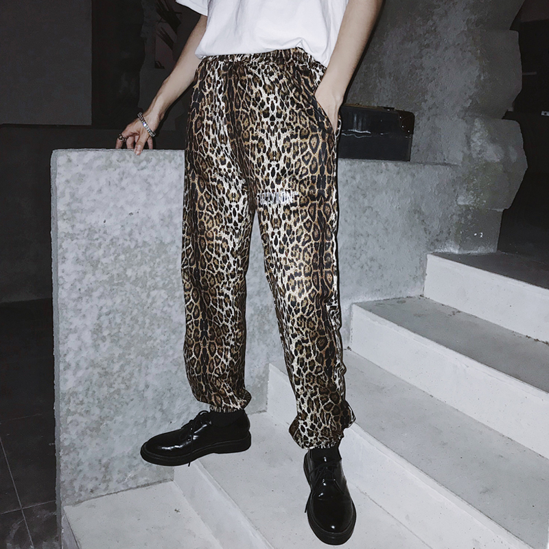 2018 New Trends Street Personality Mens Leopard Hip Hop DJ Club Hair Stylist Stage Equipment Youth Popular M-XL Free Shipping