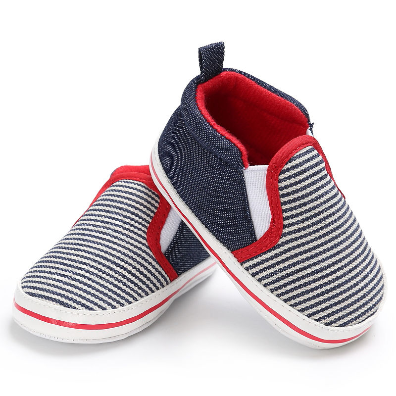 UK Hot Infant Toddler Baby Boy Girl Soft Sole Crib Shoes Sneakers 0-18 Months