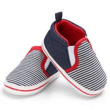 Новинка, детский, для маленьких мальчиков и девочек, с мягкой подошвой, модная, в полоску, для малышей, для малышей, детская обувь, повседневная, для детей от 0 до 18 месяцев