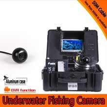 Free Shipping Dome Shape Underwater Fishing Camera Kit with 50Meters Depth Cable 7Inch LCD Monitor with DVR Function & OSD Menu