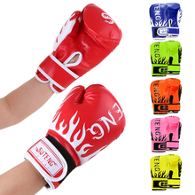 Boxing Gloves for Children Breathable Safety Training Fighting MMA Sports Leather Tiger Muay Thai Child