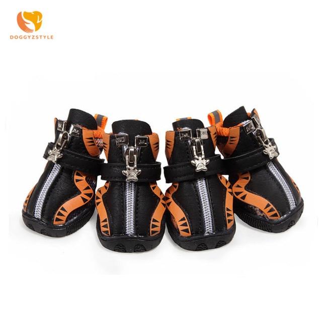 De malla transpirable perro zapatos casuales Zapatos de deporte con cremallera zapatos gato mascota Chihuahua Teddy Primavera Verano Otoño Invierno calzado DOOGGYZSTYLE