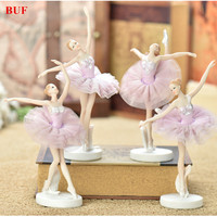 BUF Resin Craft Ballet Beauty Girl Statue Resin Ornaments Home Decoration Accessories Craft Statue Creative Girl Sculpture Gift