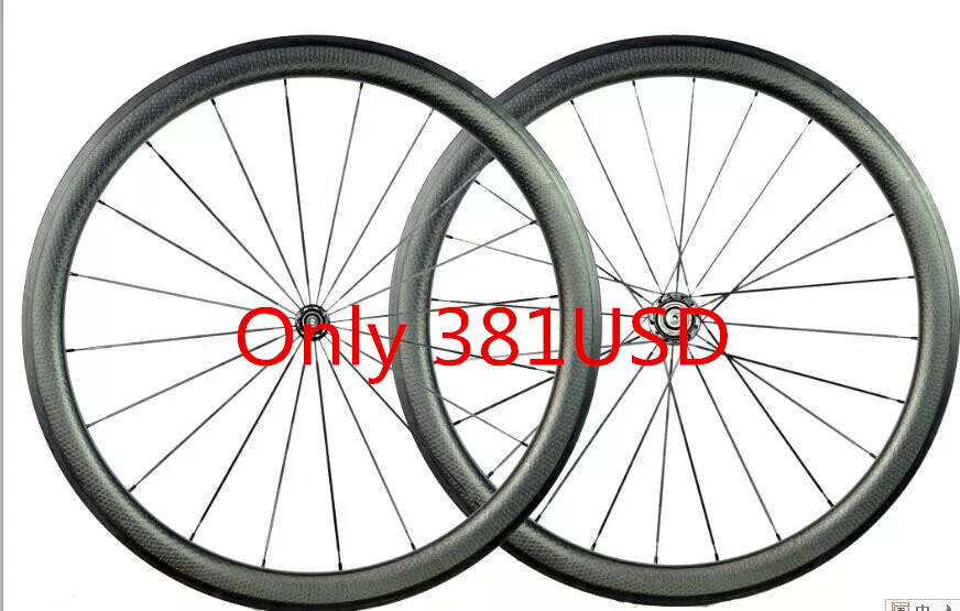 free shipping carbon dimple wheels road bike wheel carbon bicycle wheeset clincher 45mm dimple wheels 700C dimple wheelet