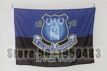 Everton Football Club deportivos personalizados bandera, tamaño 96*144 cm (No. 4), equipo de fútbol bandera sin asta