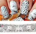 5PCS/lot Water Transfer Nail Art Stickers Decals for nail tips decortaion Leopard Tiger Stripes Design adesivos de unha