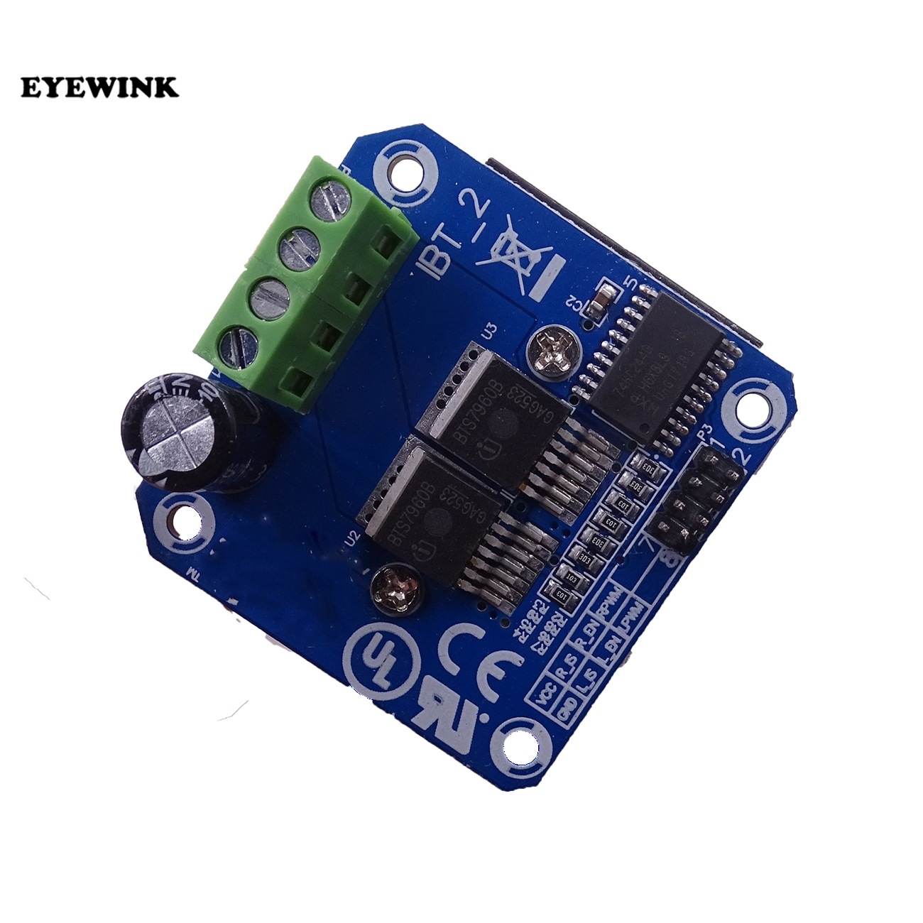 10PCS BTS7960 43A H bridge High power Motor Driver module diy smart car Current diagnostic