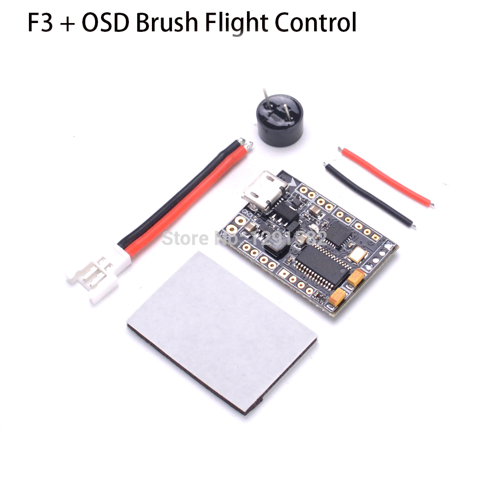 F3 + OSD Brush Flight Control board Integrated OSD Hollow Cup Indoor For  FPV Racing Drone Quadcopter