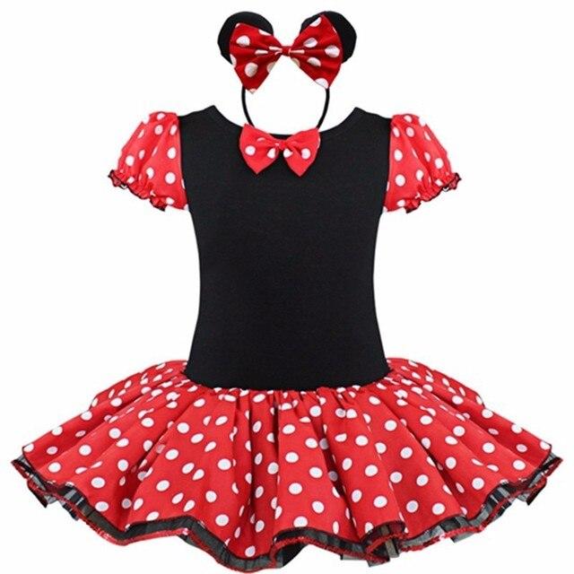 Baby Girl Dress New 2017 Cartoon Dot Bow Costumes Children Dance Ballet Dresses for Girls Clothes Tutu Dress GDR147