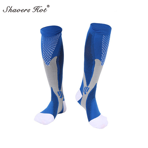 The font b football b font sports Unisex Leg Support Stretch Compression Socks Active School Team