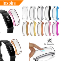 Soft TPU Case For Fitbit Inspire 10 Colors Watch Case Cover Screen Protector Smart Watch Accessories For Fitbit Inspire Hr