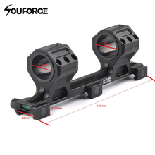 New Tactical Riflescope 25mm/30mm Rail Mount with Spirit Bubble Level for 20mm Picatinny Weaver Rail Hunting vector optics rogue 2 6x32 aoe hunting riflescope with 25mm mount ring sunshade flipup cap