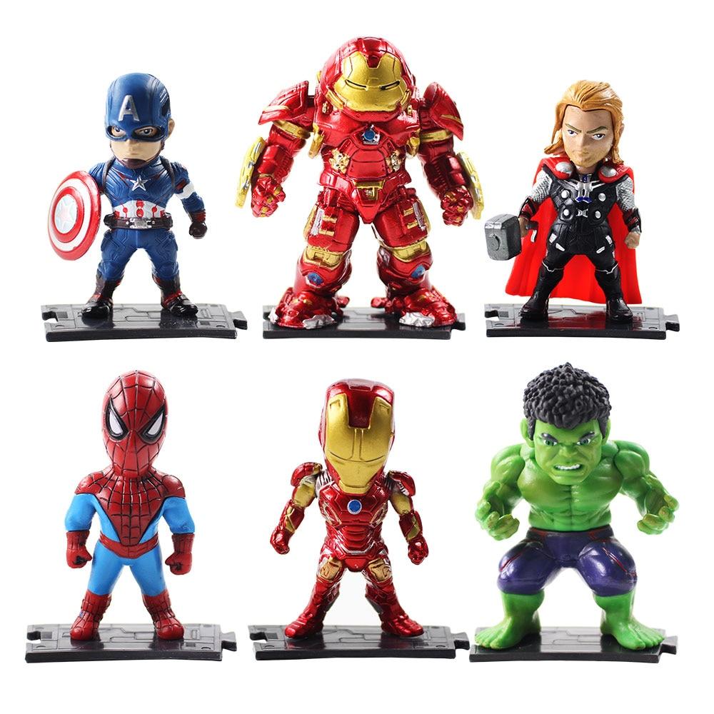 6pcs-lot-the-font-b-avengers-b-font-q-version-captain-america-raytheon-batman-anti-hulk-green-hulk-spiderman-action-figure-toy-doll-kids-gifts