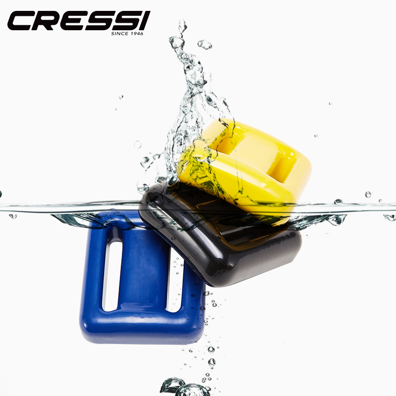 Cressi PVC Coated Lead Weight Lead Weight Diving Weight Dive Weight 1kg/pcs Colorful Diving Accessory