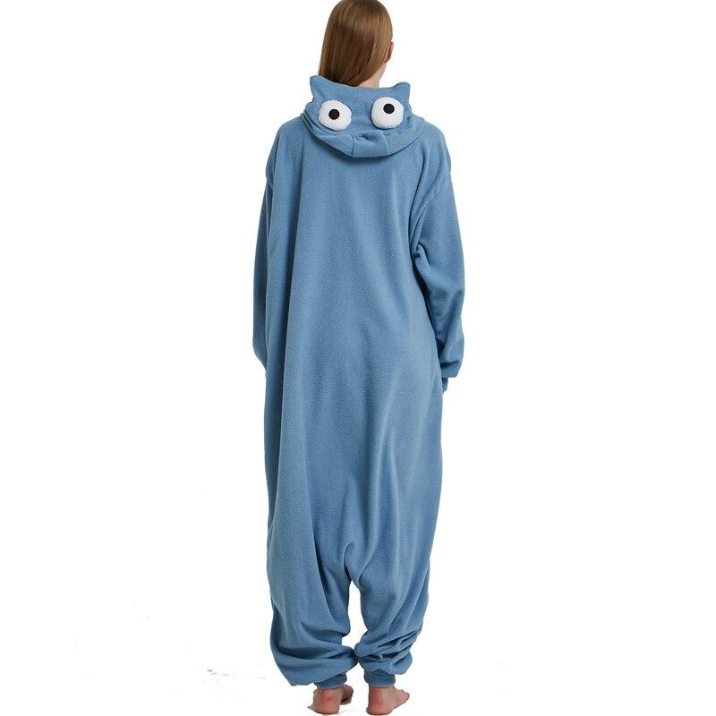 Cookie Monster Kigurumi Cartoon Onesie Jumpsuit Adult Sesame Street Pajamas For Women Sleepwear Pyjamas Cosplay Halloween Party