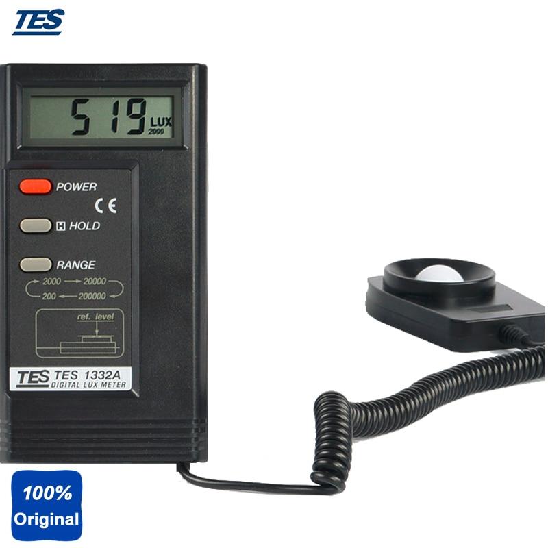 Digital Lux Meter Light Illuminometer 0.01~200000 Lux Illuminance TES1332A portable wrist blood pressure pulse monitor digital upper blood pressure monitor meters sphygmomanometer health care monitors