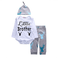 Fashion Newborn Baby Boys Infant Outfits Clothes Rompers T-Shirt Tops Pants Trousers Hat