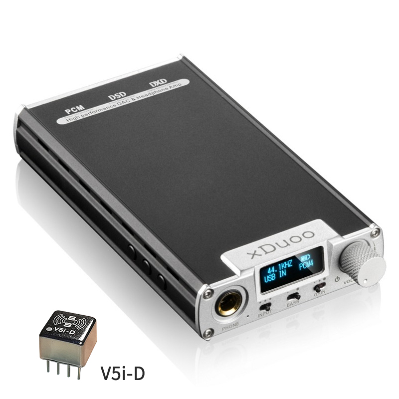 XDuoo XD-32bit/384 KHz DSD256 OLED V5i-D DSD DAC + Opamp Audio Portatile Amplificatore Per Cuffie