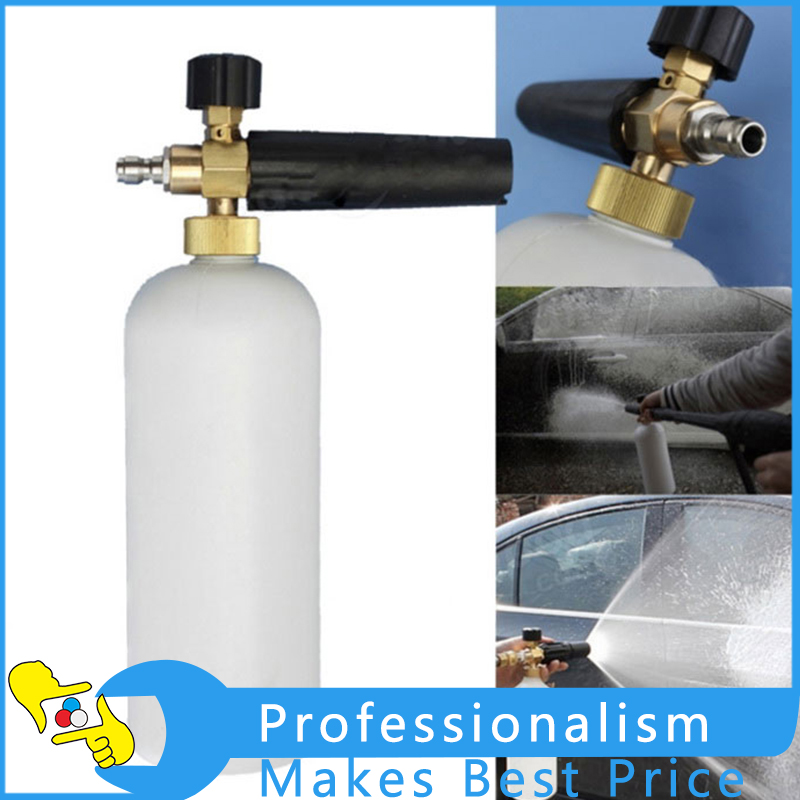 все цены на 1L Adjustable Snow Foam Lance Washer Car Wash Gun Soap Pressure Washer Bottle Car Cleaning Accessories онлайн