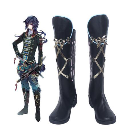 Sengoku Night Blood Date Masamune Cosplay Boot Halloween Party Cosplay Show Boots Custom Made for Adult Men Shoes Accessories
