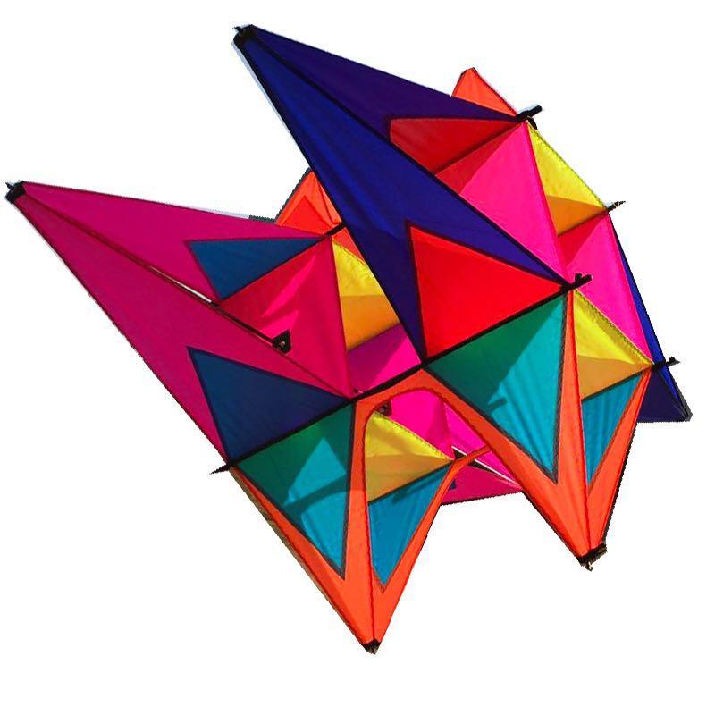 Nouveau cerf-volant 3D à huit couleurs avec poignée en cerf-volant et ficelle faciles à voler