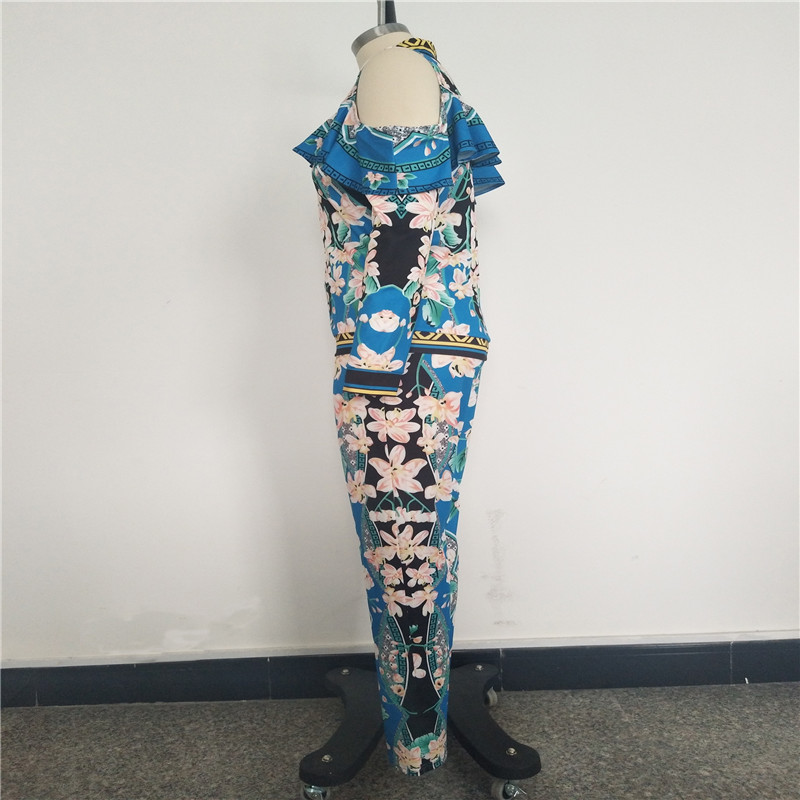 African Print Dresses For Women Dashiki Traditional African Two Piece Set Print Tracksuit Bazin Tops Pants Clothing Female Suit (9)