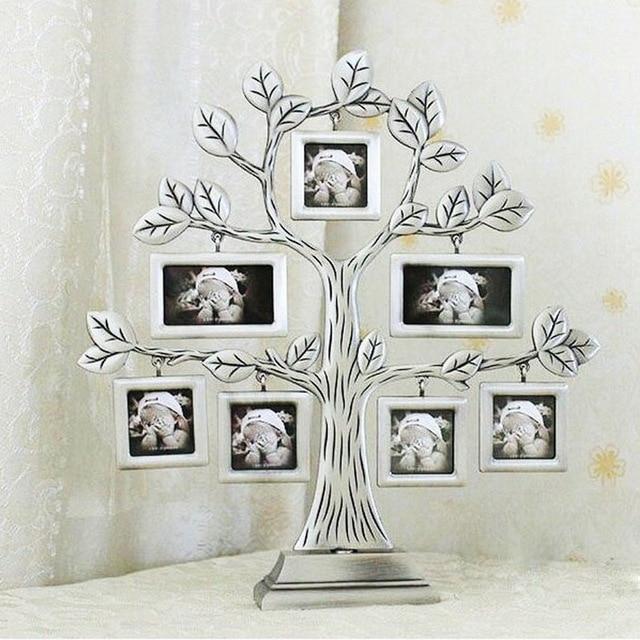 1 Stucke Familie Baum Metall Bilderrahmen Schonen Kreative Geschenk