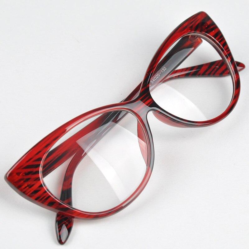 Casual Style Women Lovely Cat Eye Pattern New Designer Glasses Frame Fashion Vintage Design Clear Lens Eyewear Frame