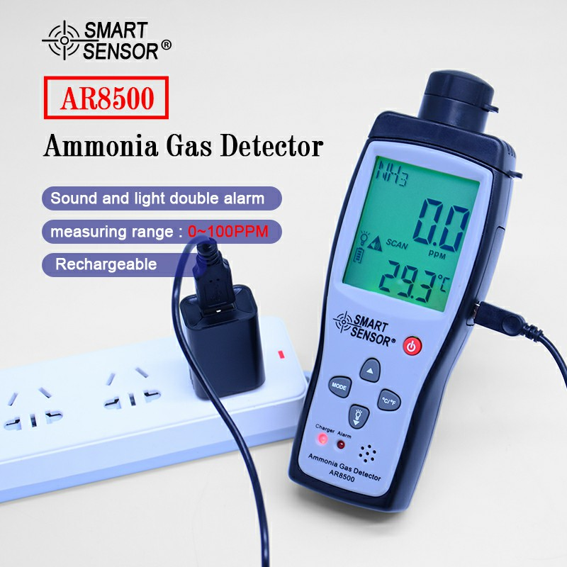 OUTEST Ditigal Ammonia Gas NH3 Detector Meter Tester AR8500 Monitor Range 0-100PPM With Sound Light Alarm Gas Analyzers машинка детская silverlit silverlit машинка robocar poli рой на радиоуправлении 15 см
