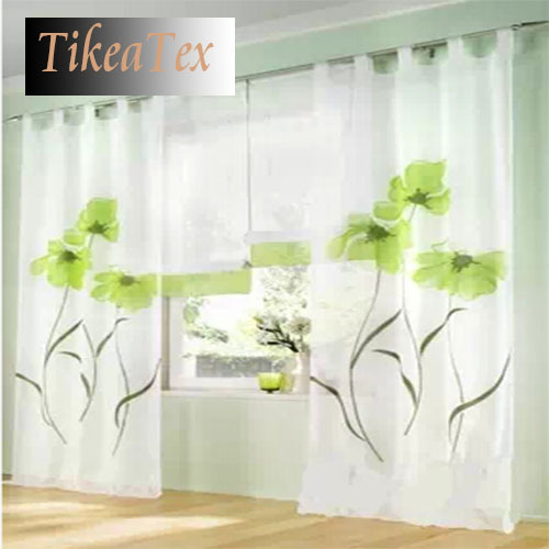 Home Textile Window Treatment Curtains For Living Room Tulle Blinds Ikea  Sheer Curtain Kitchen Curtains Tulle ...