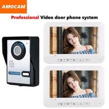 7″ Monitor Video Doorbell Door Phone Kit IR Night Vision Door Camera Video Intercom interphone system for home villa 2-monitor