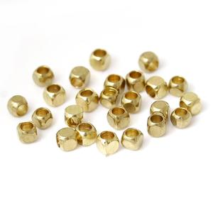 8SEASONS Copper Seed Beads Square Light golden About 2.5mm x 2.5mm,Hole: Approx 1mm,500 Pcs