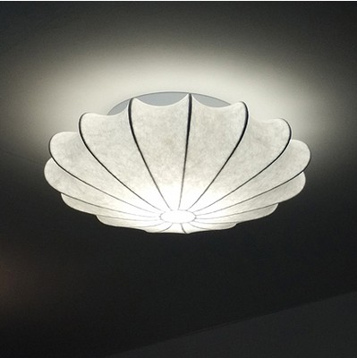 Modern flower LED white silk ceiling lamps bedroom light creative living room study lamp European style dome ceiling lights ZA black or white rectangle living room bedroom modern led ceiling lights white color square rings study room ceiling lamp fixtures