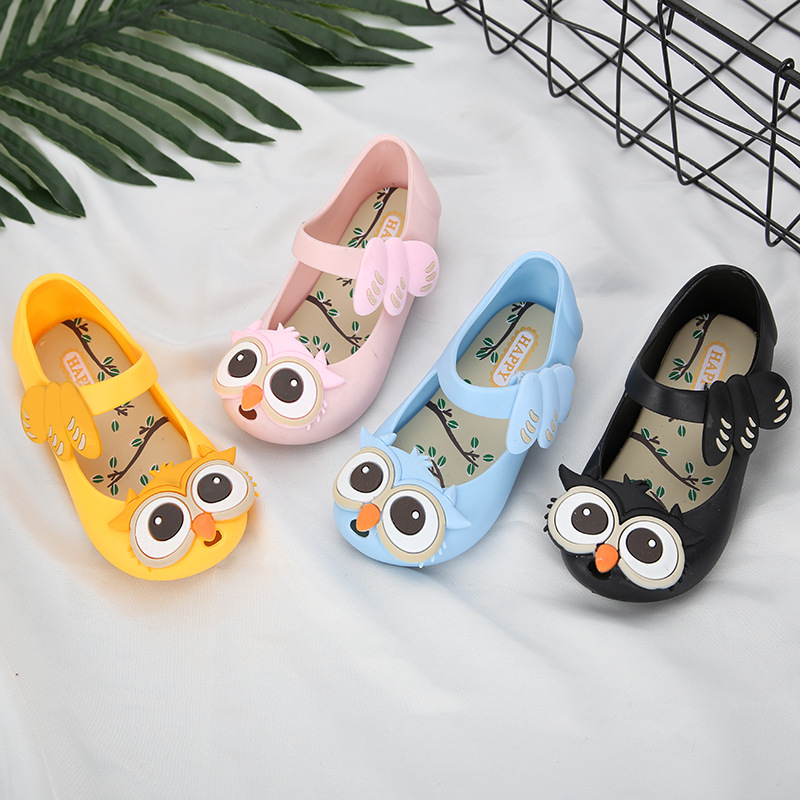 2018 New Summer Owl Sandals Mini Melissa Unicorn Shoes New Jelly Shoe Fish Mouth Girl Non-slip Kids Sandal Toddler Size 24-32