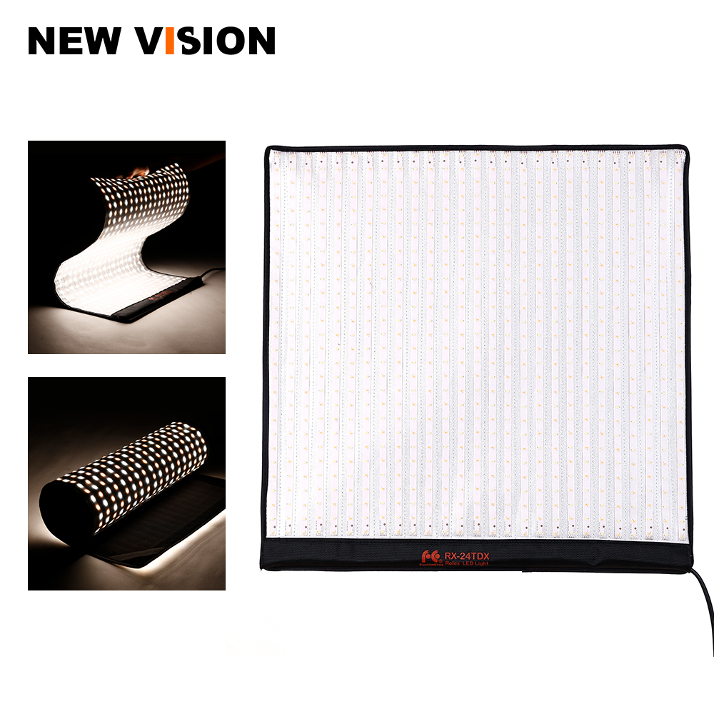Falcon Eyes RX 24TDX Portable Flexible Square Rollable Cloth LED Fill in Light Lamp Studio Video