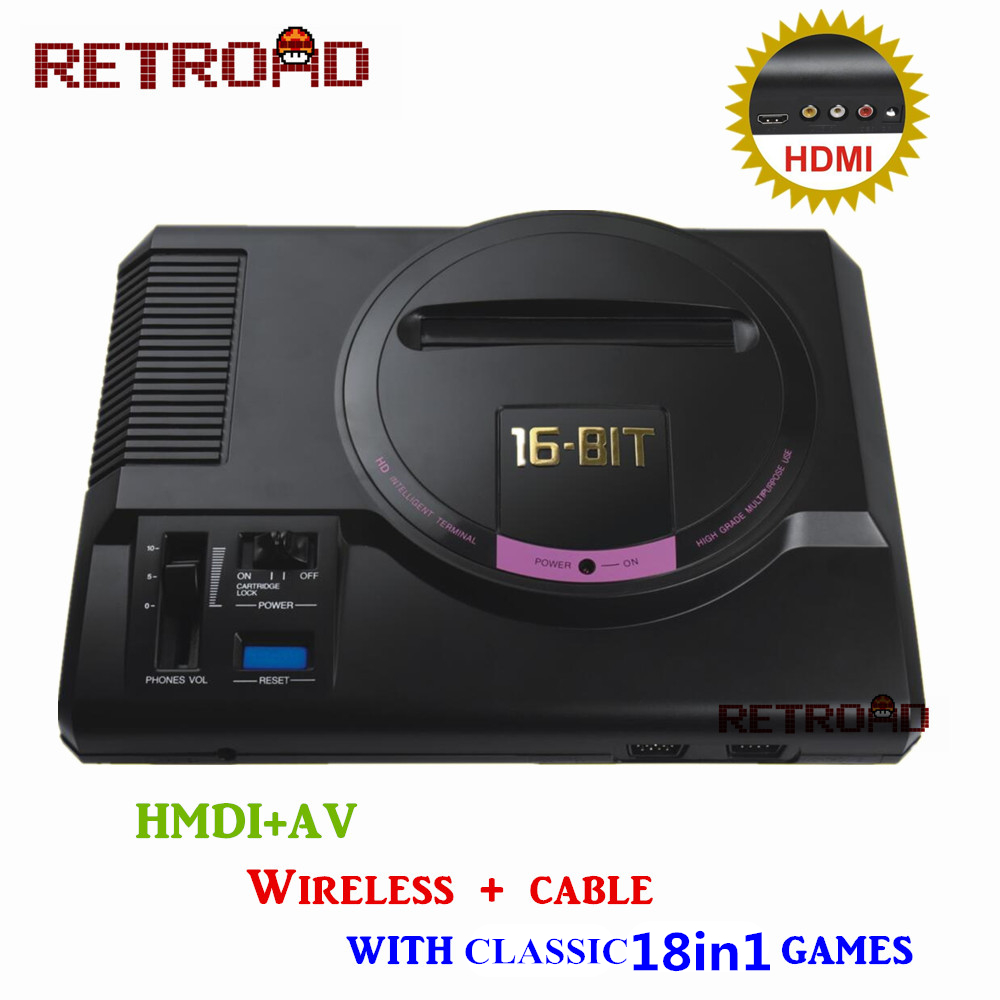 Retroad hd video game console 18 free games high definition hdmi tv out for sega mega drive - Console meaning in computer ...